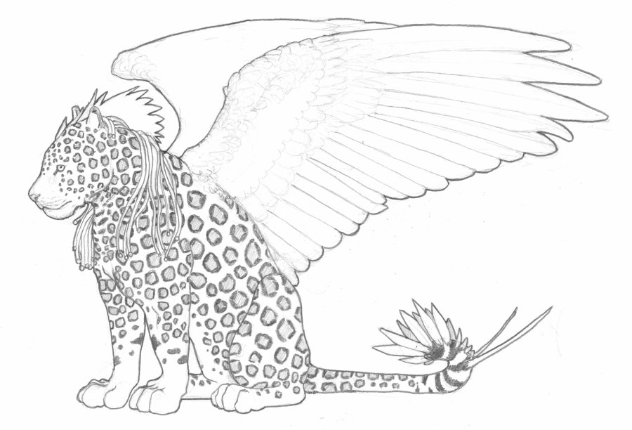 900x612 Winged Jaguar By Mechanicalhyena