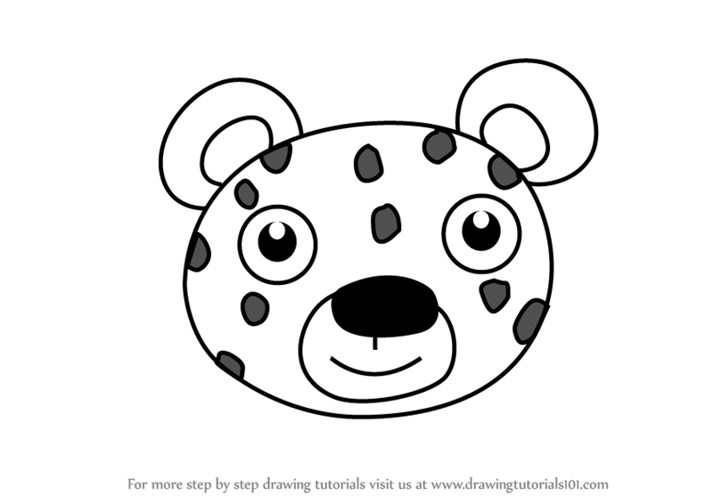 800x566 Learn How To Draw A Jaguar Face For Kids (Animal Faces For Kids