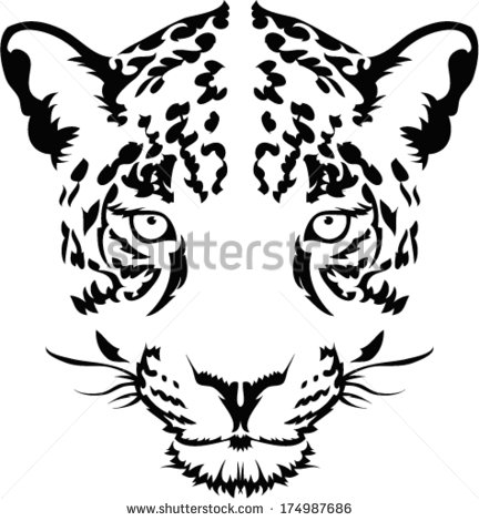 432x470 Jaguar Head Vector