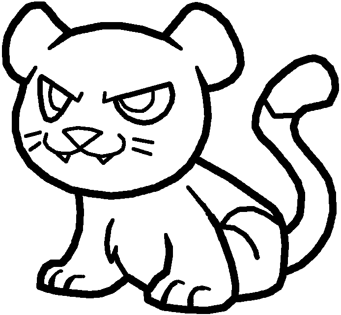 694x642 Drawn Jaguar Cougar Line