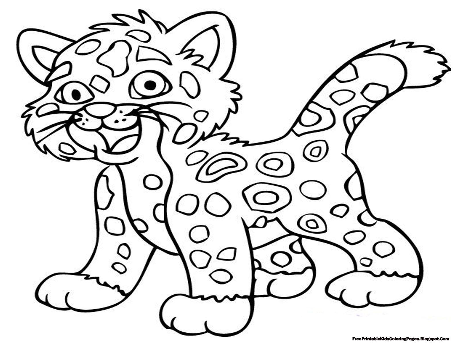 1600x1200 Jaguar Coloring Page