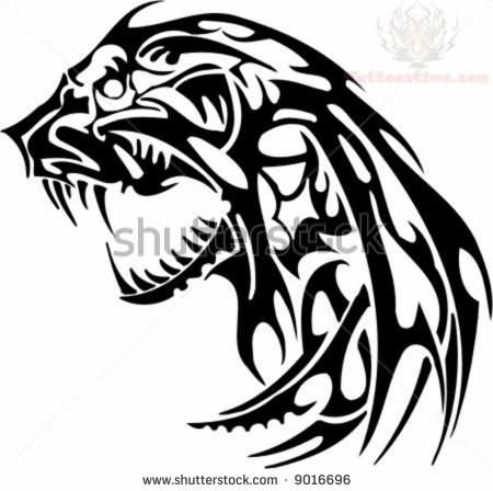 450x448 Jaguar Tribal Tattoo Designs