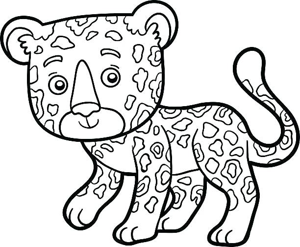 612x505 Minimalist Jaguar Coloring Pages Crayola Photo