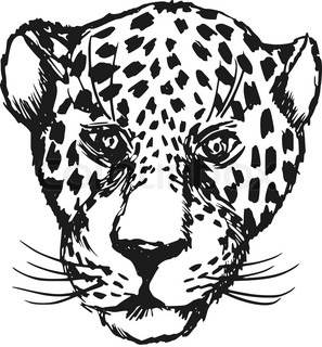 297x320 Wild Animal Big Cat Leopard Lion Panther Jaguar Icon Stock