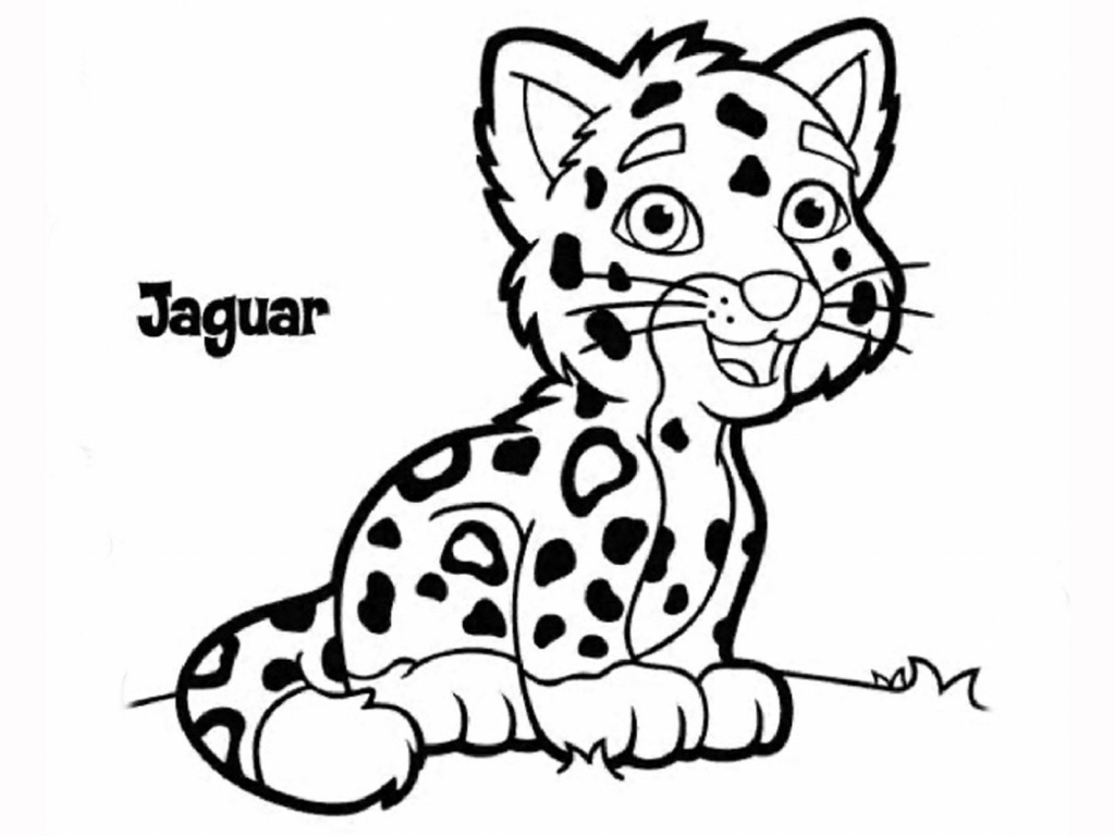 1024x768 Cartoon Jaguar Drawing Clipart