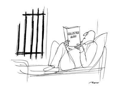 400x300 Man In Jail Reading Collected Alibis.