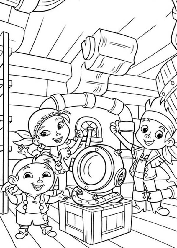 600x840 Jake And The Never Land Pirates Coloring Pages On Fabulous Pirate