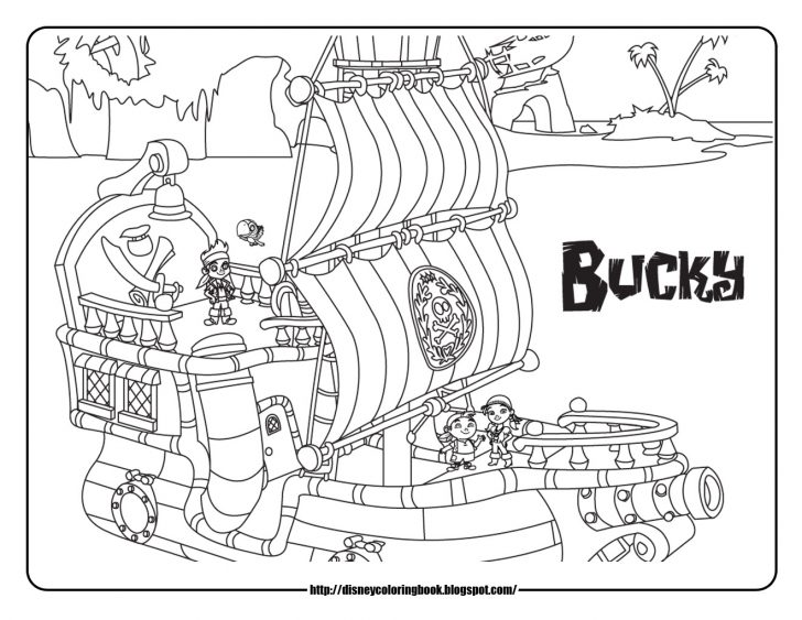 728x563 Jake And The Neverland Pirates Coloring Pages Free