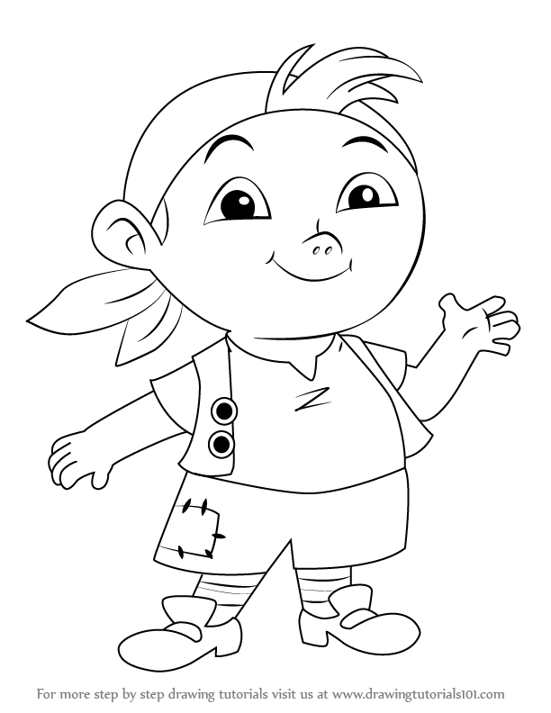 612x792 Learn How To Draw Cubby From Jake And The Never Land Pirates (Jake