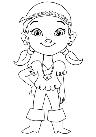 339x480 Izzy Pirate Coloring Page Free Printable Coloring Pages