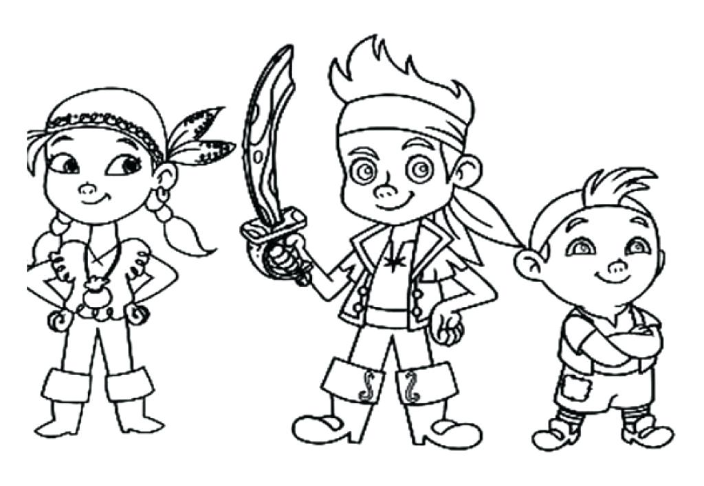 1024x708 Jack And The Neverland Pirates Coloring Pages And The Pirates Free