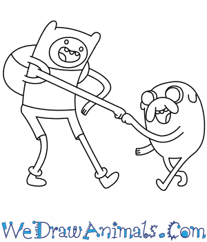 300x350 How To Draw Finn And Jake From Adventure Time