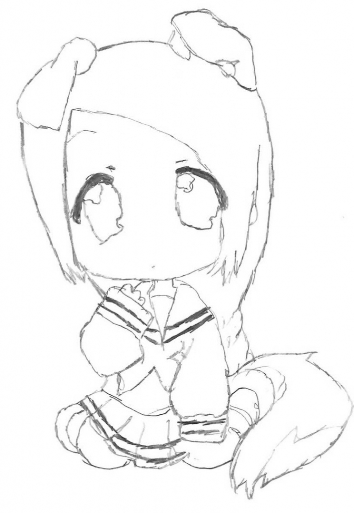 707x1024 Anime Dog Sketch How To Draw Anime Jake The Dog, Stepstep, Cartoon