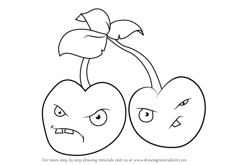 800x565 Learn How To Draw Cherry Bomb From Plants Vs. Zombies (Plants Vs
