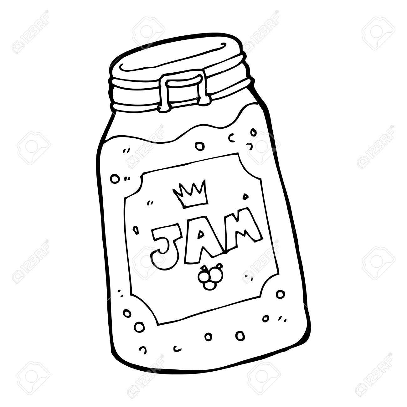 1300x1300 Drawn Jam Jam Jar