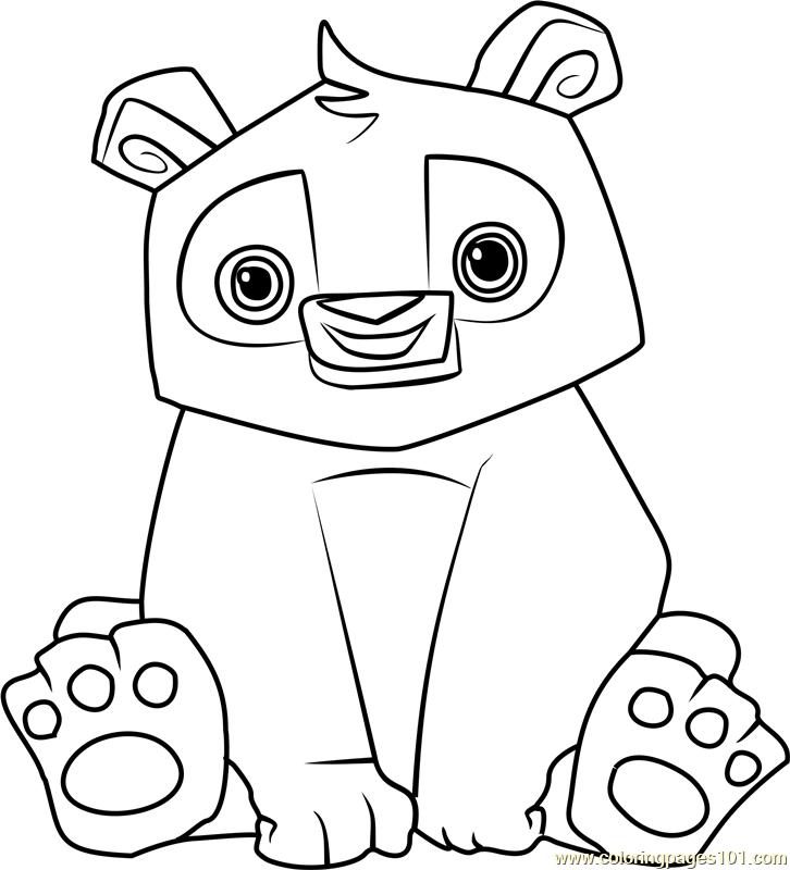 726x800 Panda Animal Jam Coloring Page