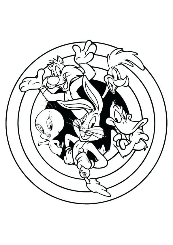 600x849 Space Jam Coloring Pages