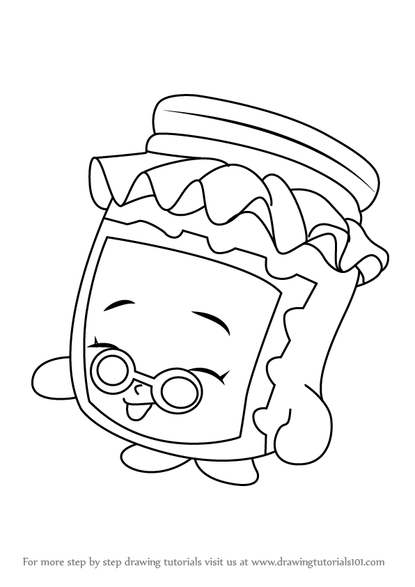 596x843 Step By Step How To Draw Gran Jam From Shopkins