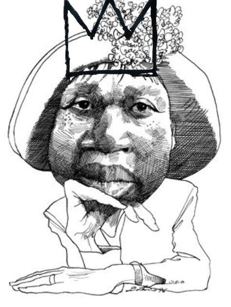 474x630 Jamaica Kincaid By David Levine With Basquiat Crown David Levine