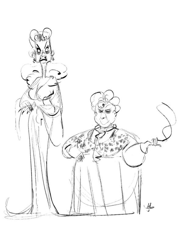 600x776 Aunt Spiker And Sponge From James And The Giant Peach By Javier