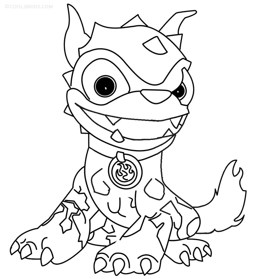 850x925 Printable Skylander Giants Coloring Pages For Kids Cool2bKids