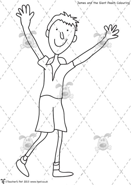 450x637 James And The Giant Peach Characters Coloring Pages