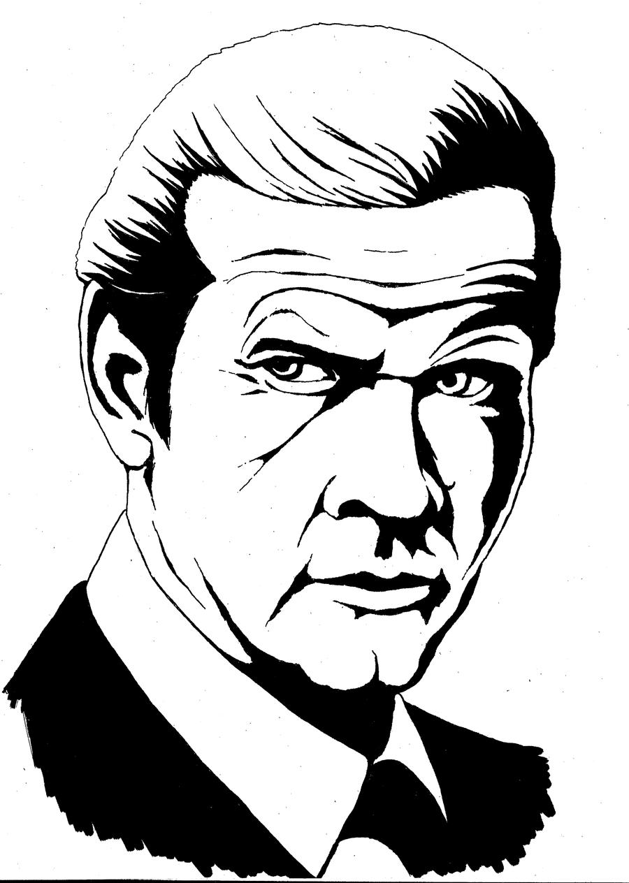 900x1264 James Bond (Roger Moore) By Kitalda