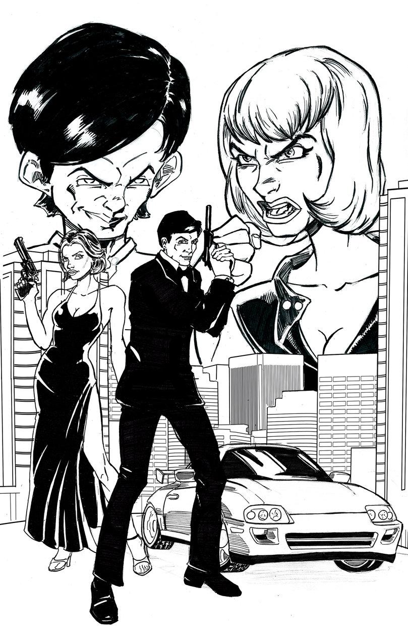 809x1250 James Bond Poster Bw By Ninjaspidey