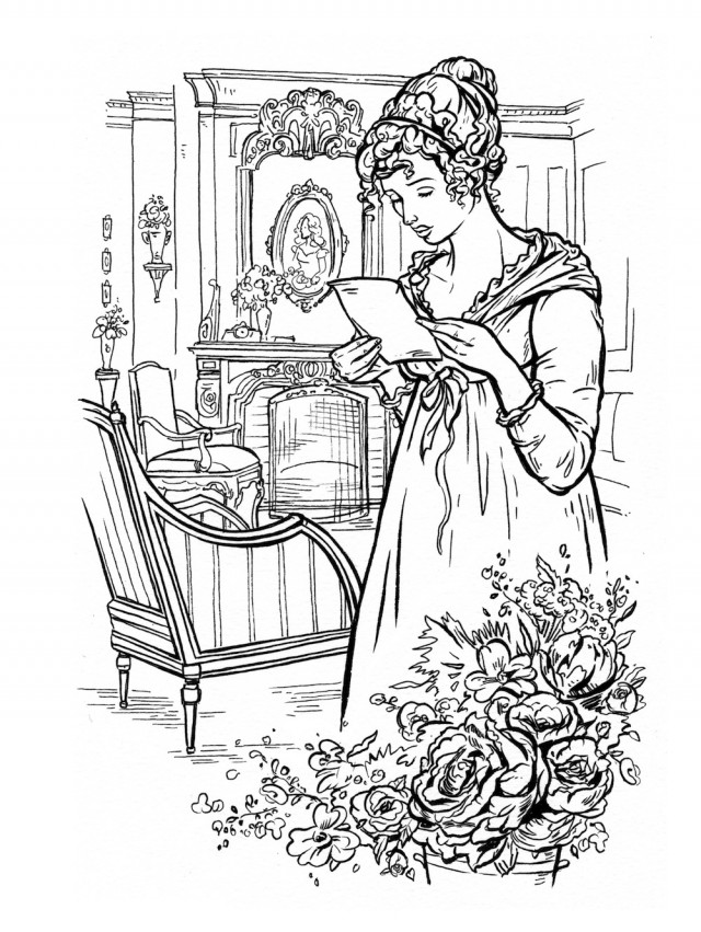 640x851 This Jane Austen Adult Coloring Book Lets You Doodle Mr Darcy