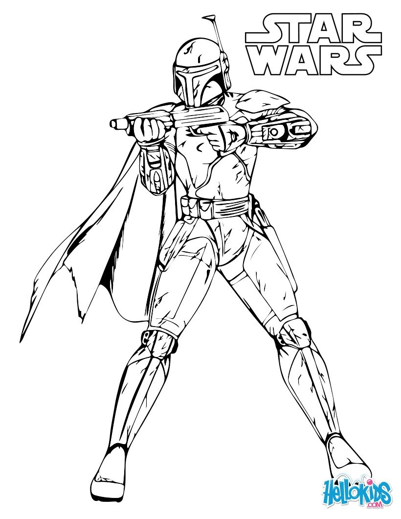 820x1060 Boba Fett Coloring Pages
