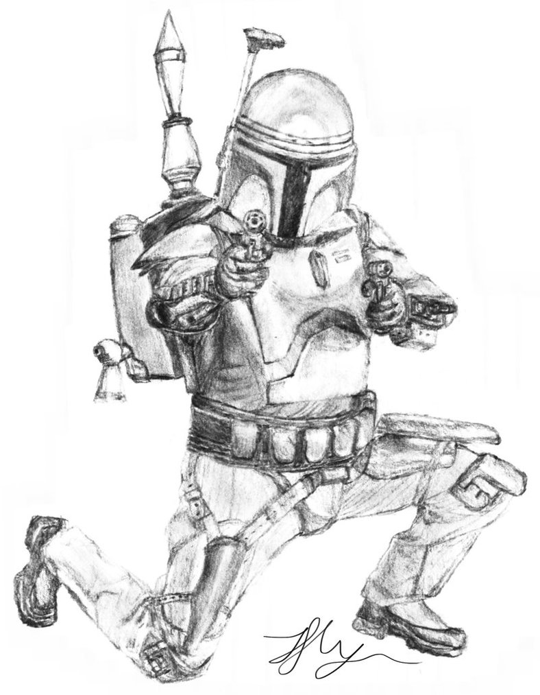 788x1013 Jango Fett Sketch By Chum162