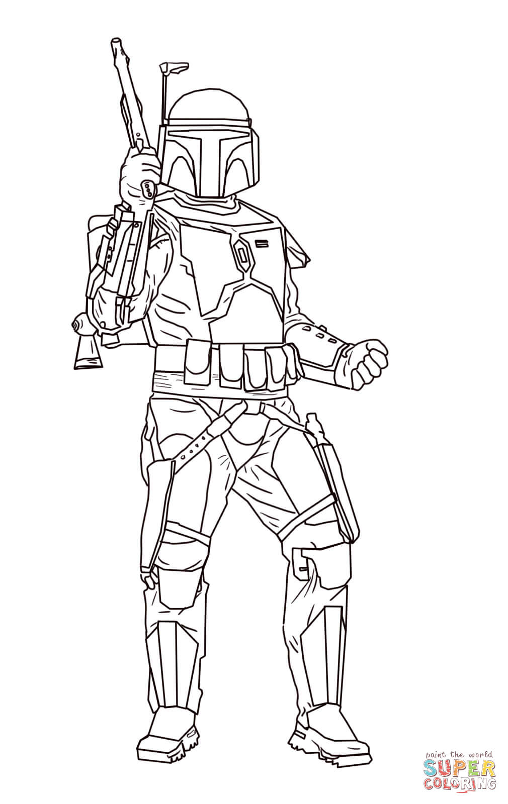 1010x1600 Jango Fett Coloring Page Free Printable Coloring Pages