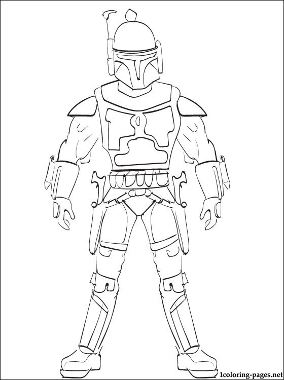 560x750 New Jango Fett Coloring Page 93 For Fee With Jango Fett Coloring
