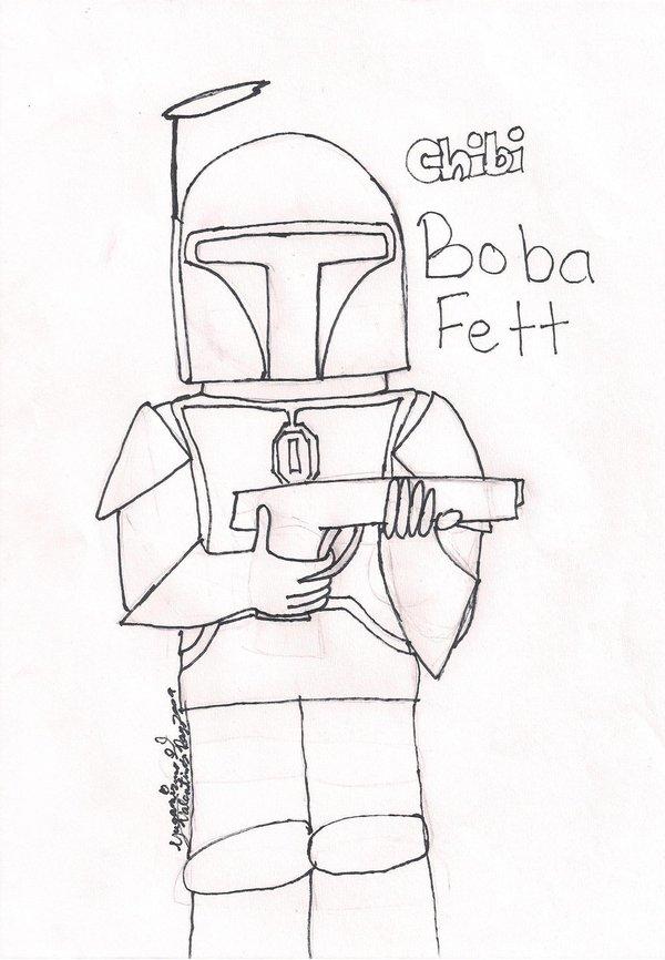 600x866 Boba Fett Coloring Page By Yugamizuno