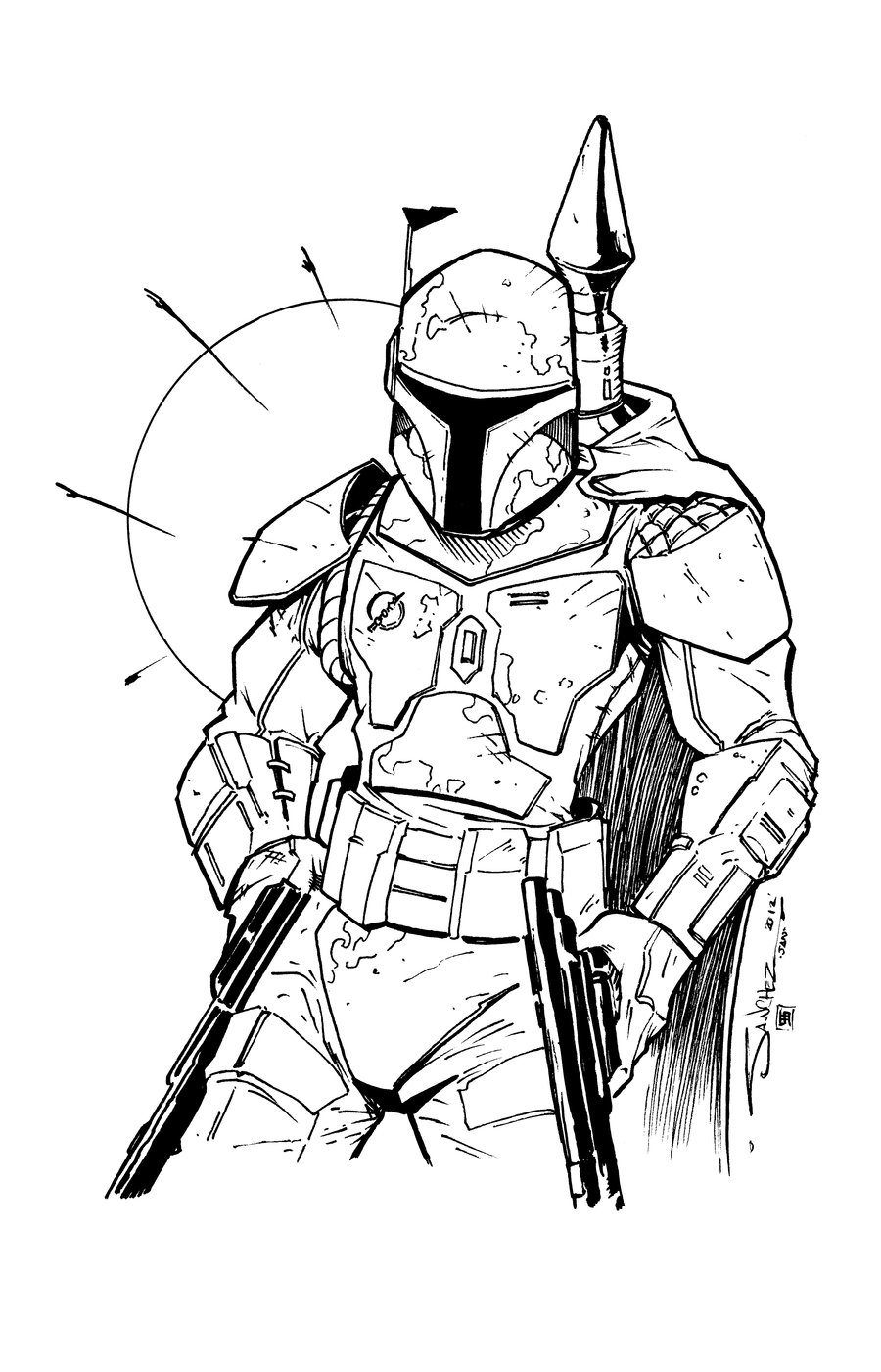 900x1401 Boba Fett Coloring Pages