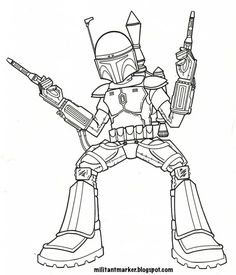 236x275 Boba Fett By Jpc Art On Lineart Star Wars