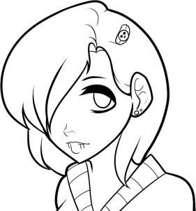 281x302 How To Draw An Emo Face, Emo Faces, Step By Step, Anime Heads