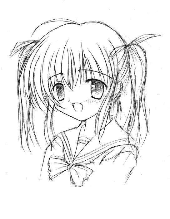 544x702 Anime Sketch By Xxxcrossheartxxx