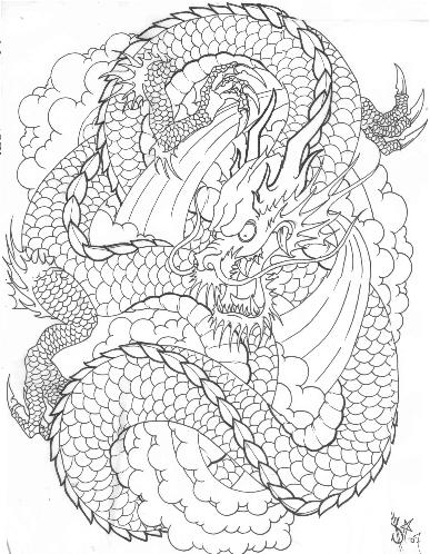 387x498 Japanese Dragon Tattoo Designs Gallery Zentrader