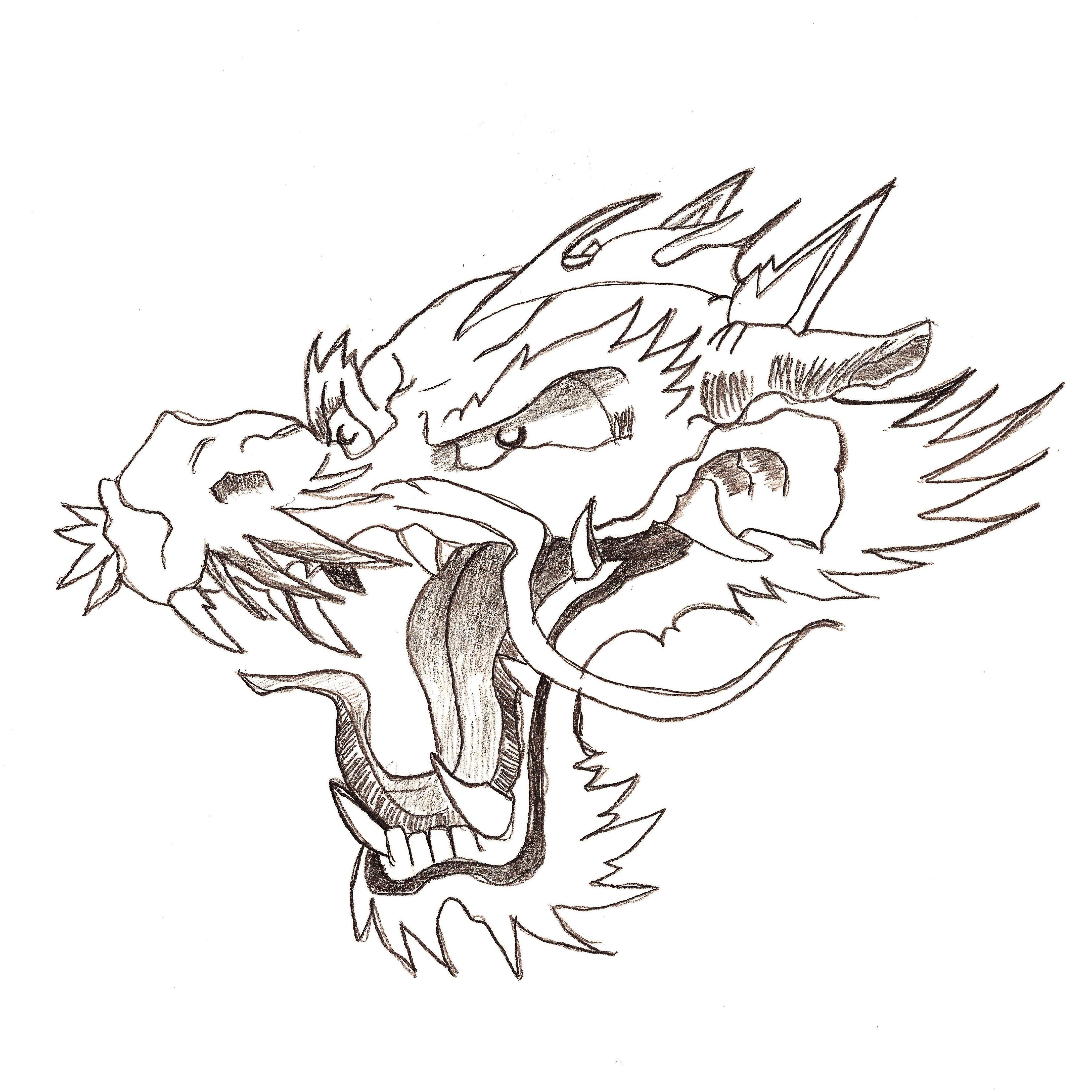 4344x4344 Japanese Dragon Head For Tattoo By Flegmaucigasa