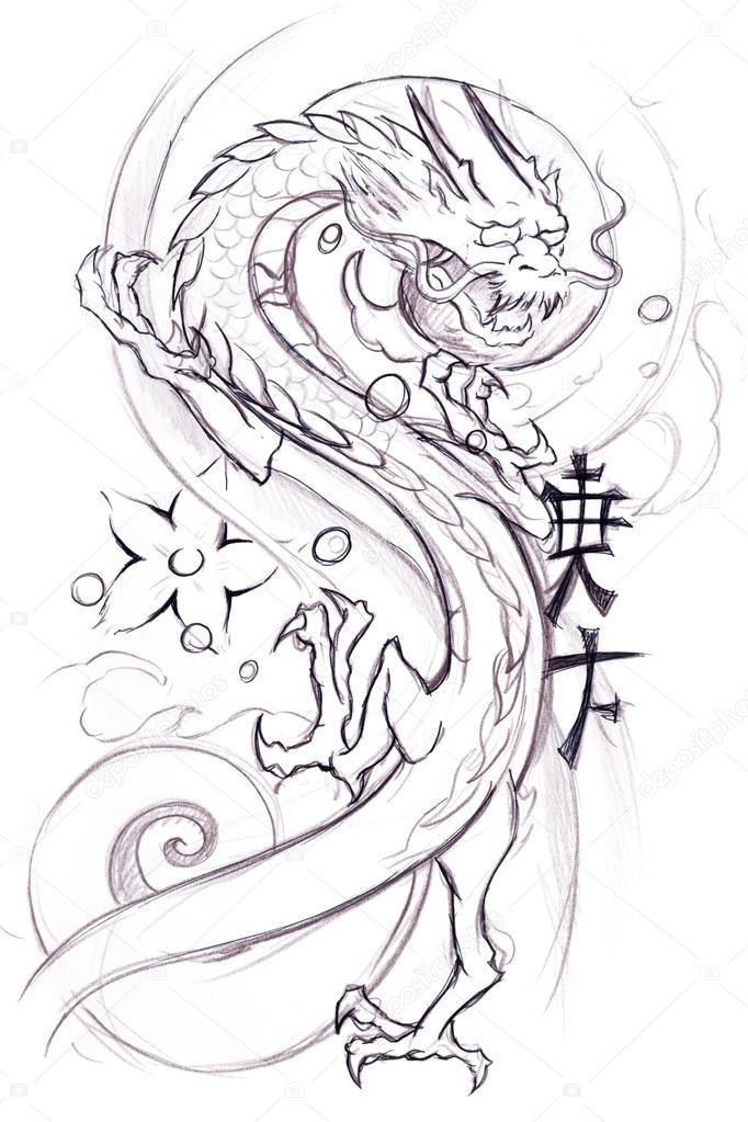 682x1023 Japanese Dragon Stock Photo Daicokuebisu