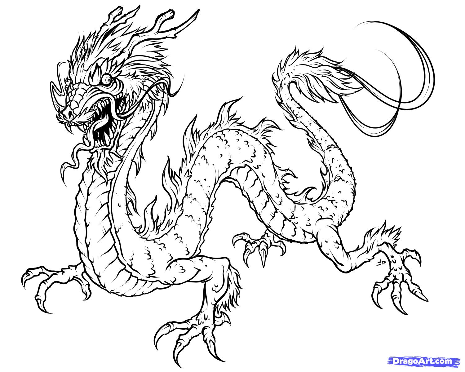 1500x1200 How To Draw A Japanese Dragon Diy Japanese Dragon