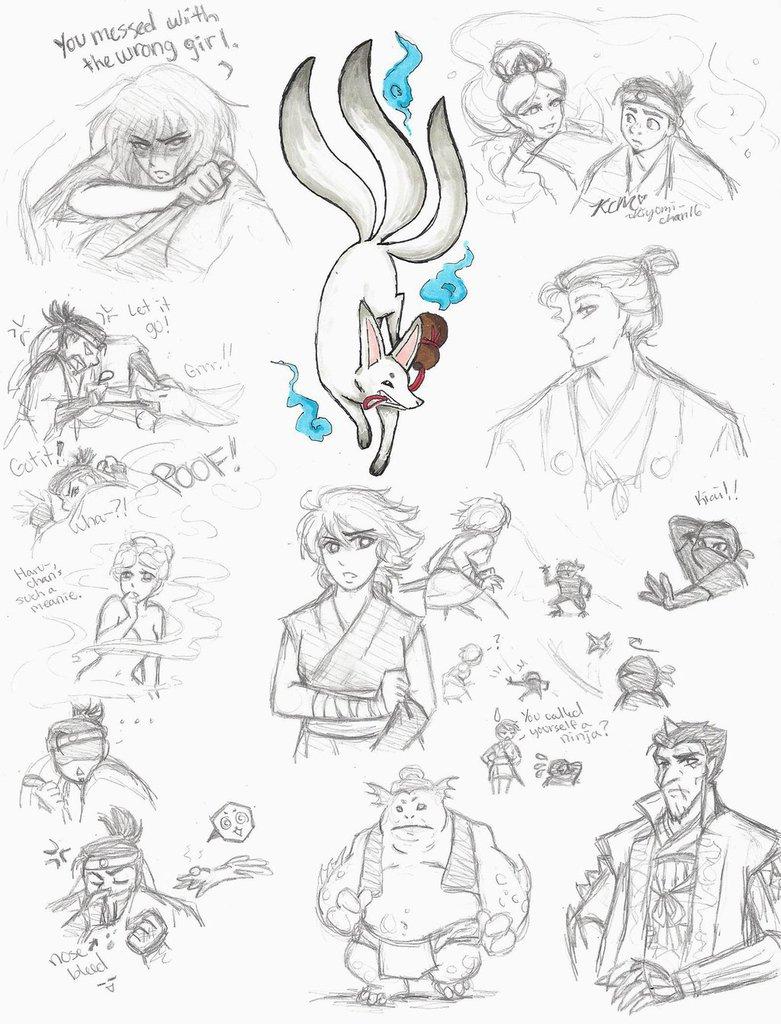 781x1024 Strange Magic Sketches Pt2 Japan Au By Kiyomi Chan16