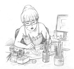 236x220 The Seiji Pencil Mask Japan Girl Art Drawing The Seiji Drawing