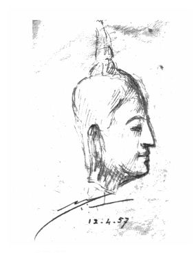 282x368 Buddha,paintings,the Mother,japan,france,sri Aurobindo ,beauty
