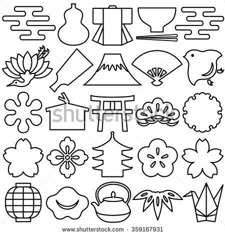 450x470 Japan Line Drawing Shutterstock