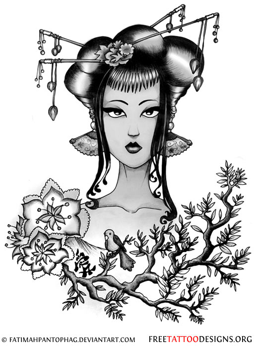 514x700 Geisha Tattoos