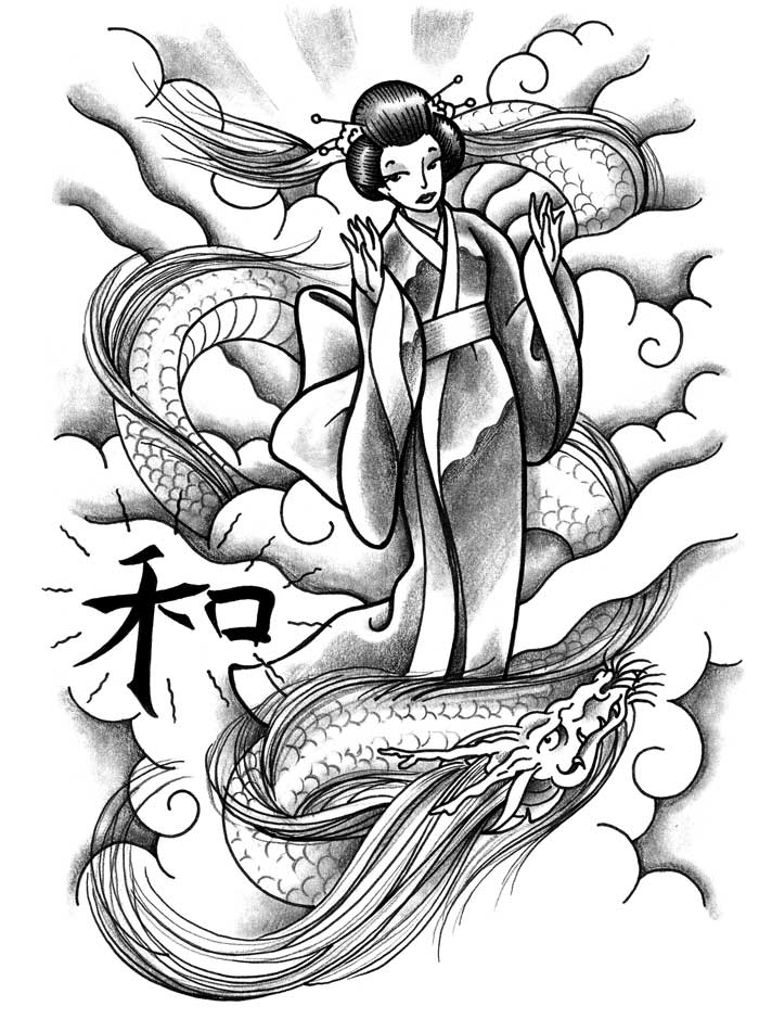 700x951 Geisha Tattoo Flashes Ideatattoo Japanese Art