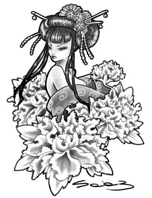 300x390 Art Japanese Tattoos With Image Japanese Geisha Tattoo Designs