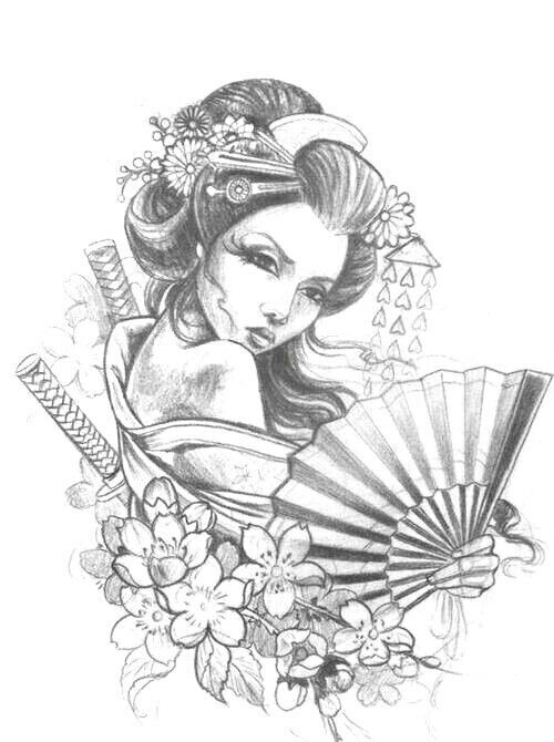 500x670 Pin By Alicia On All Inked Up. Tattoo, Geisha